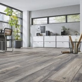 Kronotex Robusto Harbour Oak Grey Laminate Flooring (D3572)