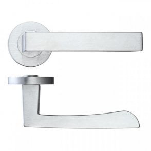 LPD Doors Fornax Satin Chrome Lever Door Handle Hardware Pack