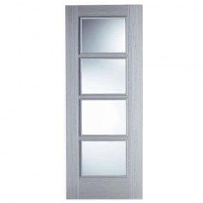 Internal Light Grey Pre-Finished Vancouver 4L Glazed Door