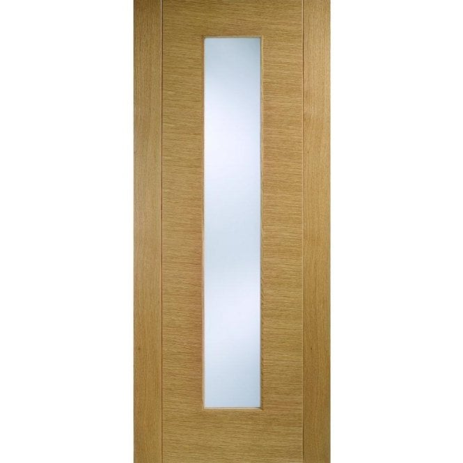 LPD Doors Internal Oak Pre-Finished Aragon Door with Frosted Glass