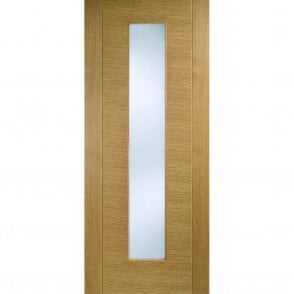 Internal Oak Pre-Finished Aragon Door with Frosted Glass