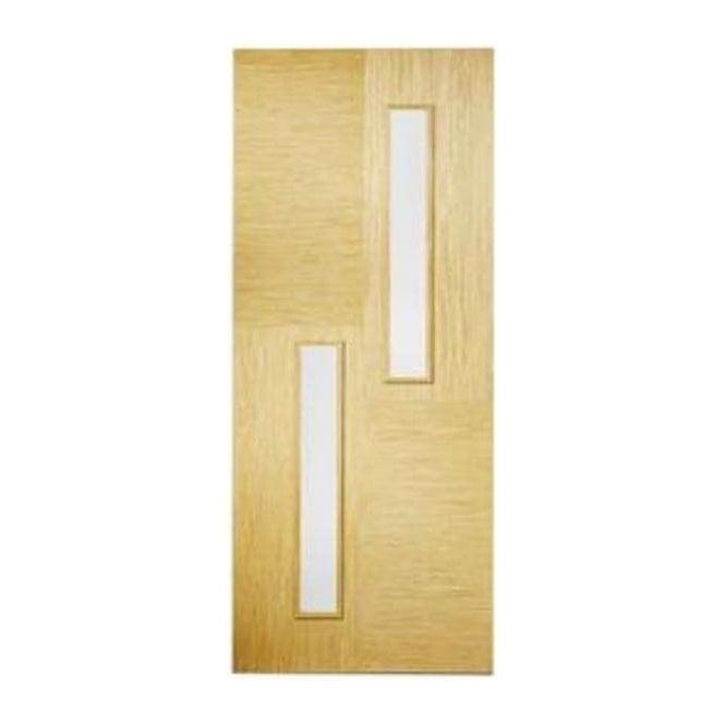 LPD Doors Internal Oak Pre-Finished Hermes Door With Clear Glass
