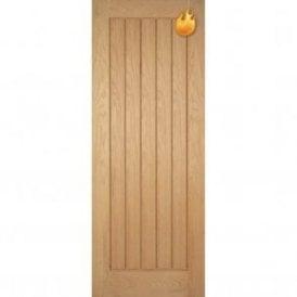 Internal Oak Pre-Finished Mexicano Fire Door
