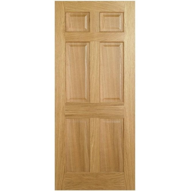 LPD Doors Internal Oak Pre-Finished Regency 6P Door