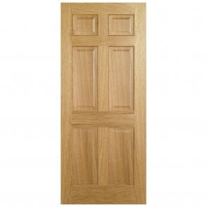 Internal Oak Pre-Finished Regency 6P Fire Door