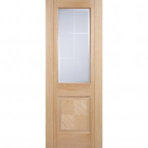 Internal Oak Pre-Finished Valencia Glazed Door