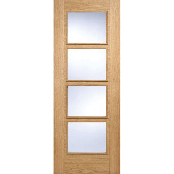 LPD Doors Internal Oak Pre-Finished Vancouver 4 Light Door
