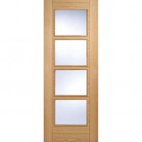 Internal Oak Pre-Finished Vancouver 4 Light Door