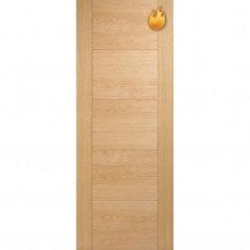 Internal Oak Pre-Finished Vancouver 5 Panel Fire Door