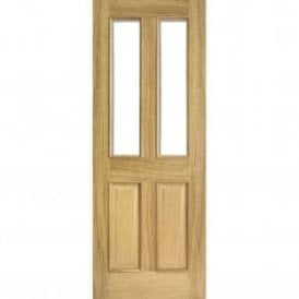 Internal Oak Richmond Door with Clear Bevelled Glass & Raised Mouldings