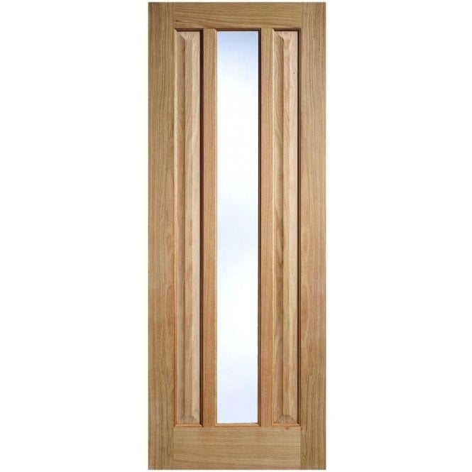 LPD Doors Internal Oak Unfinished Kilburn 1L Door with Clear Glass