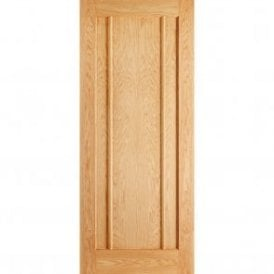 Internal Oak Unfinished Lincoln Contemporary Door