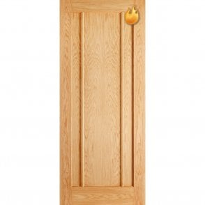 Internal Oak Unfinished Lincoln Contemporary Fire Door