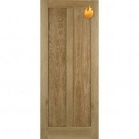 Internal Oak Unfinished Maine Contemporary Fire Door