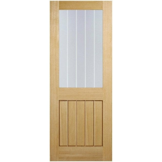 LPD Doors Internal Oak Unfinished Mexicano 1L Door with Silkscreen Glass