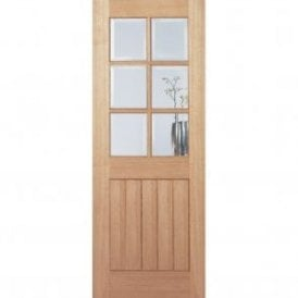 Internal Oak Unfinished Mexicano 6 Light Door