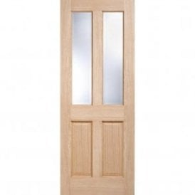 Internal Oak Unfinished Richmond 2L Door with Clear Bevelled Glass