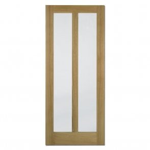 Internal Oak Unfinished Vermont Contemporary Door with Clear Glass