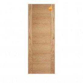 Internal Pre-Finished Oak Carini Fire Door