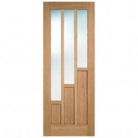 Internal Pre-Finished Oak Coventry 3L Clear Glazed Door