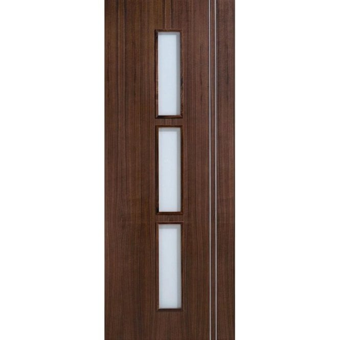 LPD Doors Internal Pre-Finished Walnut Glazed Sierra Door