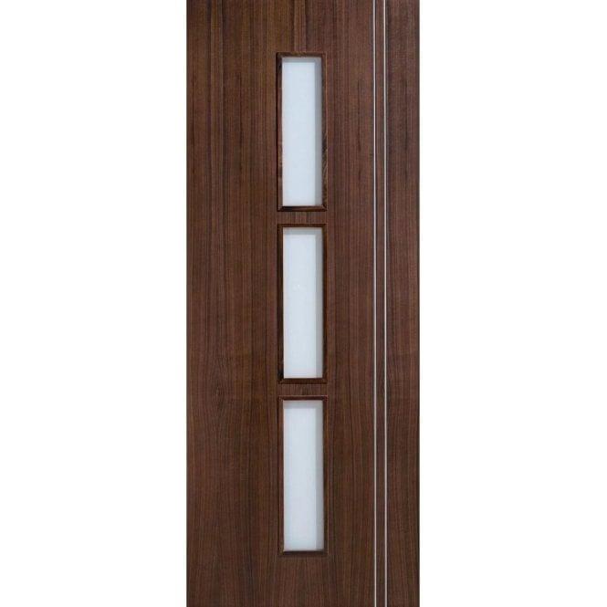 LPD Doors Internal Pre-Finished Walnut Glazed Sierra Door