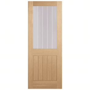 LPD Doors Internal Unfinished Oak Belize 1 Light Silkscreen Door