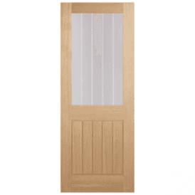 Internal Unfinished Oak Belize 1 Light Silkscreen Door