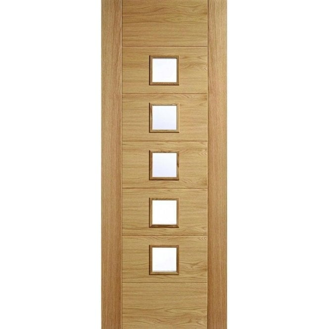 LPD Doors Internal Unfinished Oak Carini 5L Door