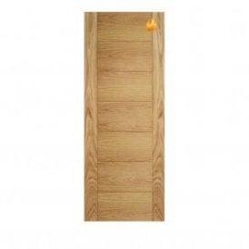 Internal Unfinished Oak Carini 7P Fire Door