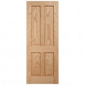 Internal Unfinished Oak Regency 4P Fire Door