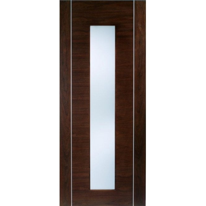 LPD Doors Internal Walnut Pre-Finished Alcaraz Door with Frosted Glass