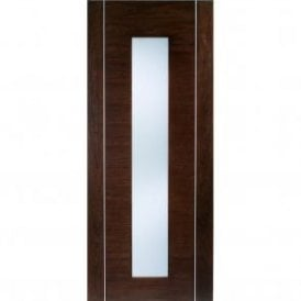 Internal Walnut Pre-Finished Alcaraz Door with Frosted Glass