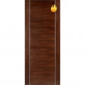 Internal Walnut Pre-Finished Alcaraz Fire Door