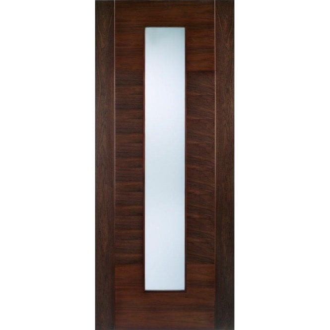 LPD Doors Internal Walnut Pre-Finished Aragon Door with Frosted Glass