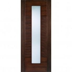 Internal Walnut Pre-Finished Aragon Door with Frosted Glass