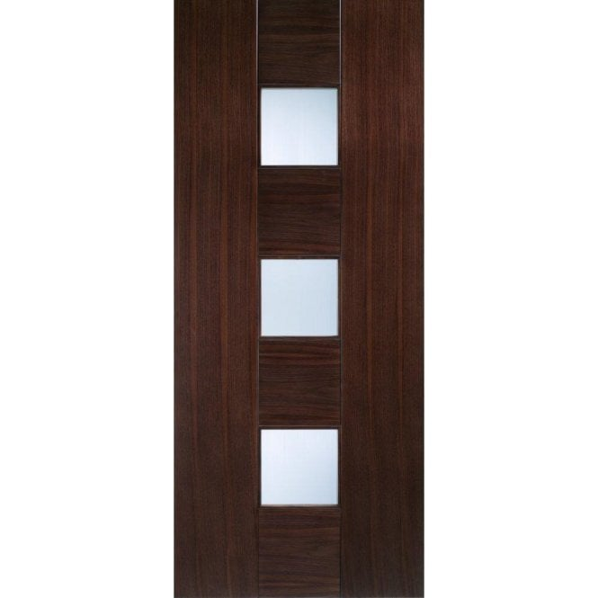 LPD Doors Internal Walnut Pre-Finished Catalonia Door with Linea Glass