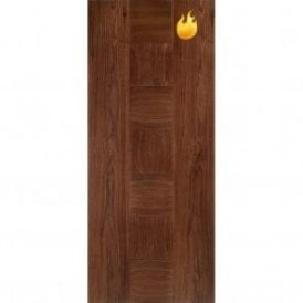 Internal Walnut Pre-Finished Catalonia Europa Fire Door