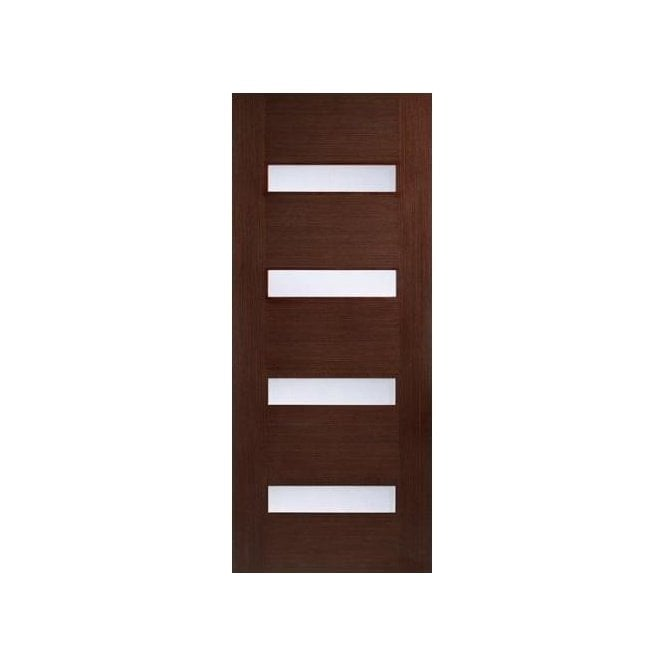 LPD Doors Internal Walnut Pre-Finished Monaco Door with Linea Glass