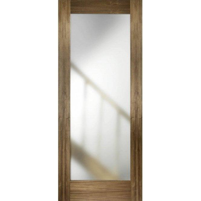 LPD Doors Internal Walnut Pre-Finished Porto Glazed Door