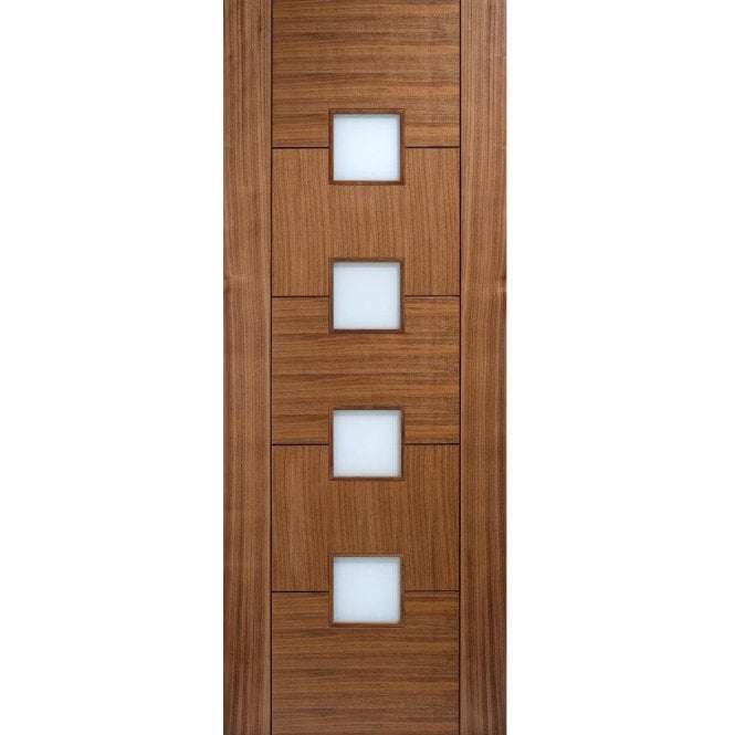 LPD Doors Internal Walnut Pre-Finished Quebec Glazed Door