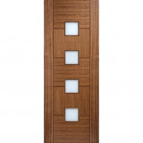 Internal Walnut Pre-Finished Quebec Glazed Door