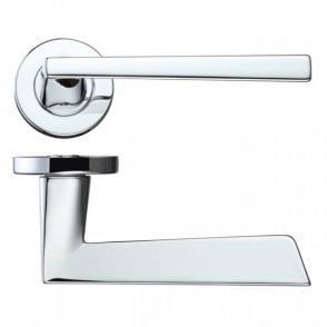 LPD Doors Lyra Polished Chrome Lever Door Handle Hardware Pack