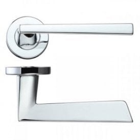 Lyra Polished Chrome Lever Door Handle Hardware Pack