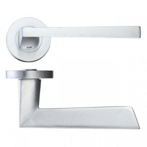 LPD Doors Lyra Satin Chrome Lever Door Handle Hardware Pack