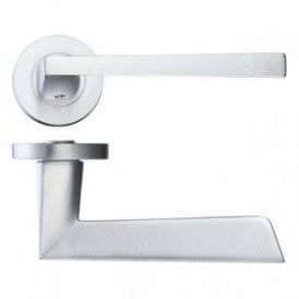 Lyra Satin Chrome Lever Door Handle Hardware Pack