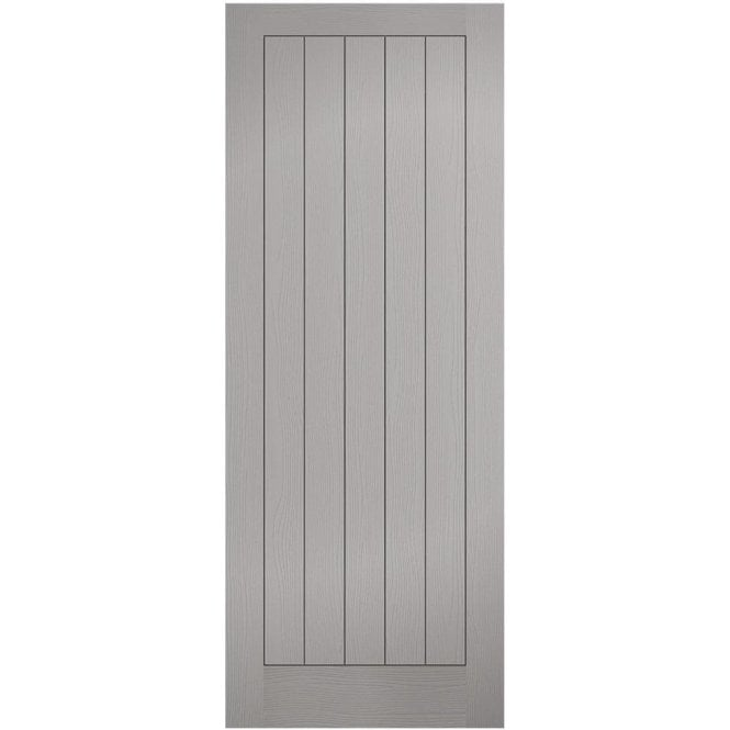 LPD Doors Textured Pre-Finished Internal Grey Moulded Vertical 5 Panel Door