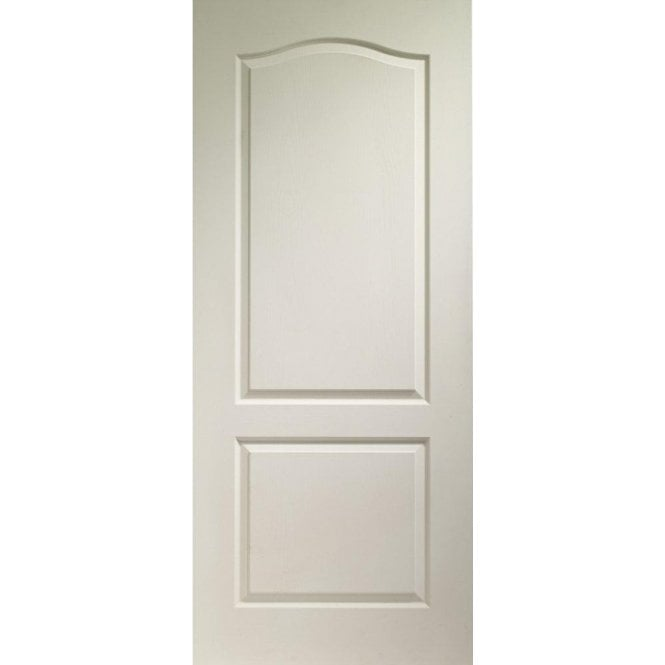 Premdor Internal White Moulded 2 Panel Arch Top Door