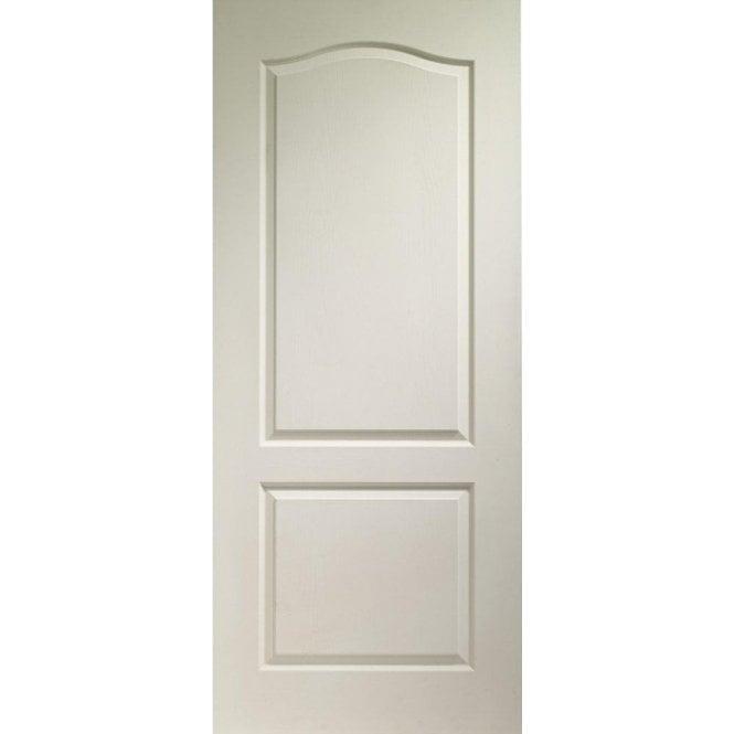Premdor Internal White Moulded 2 Panel Arch Top Door