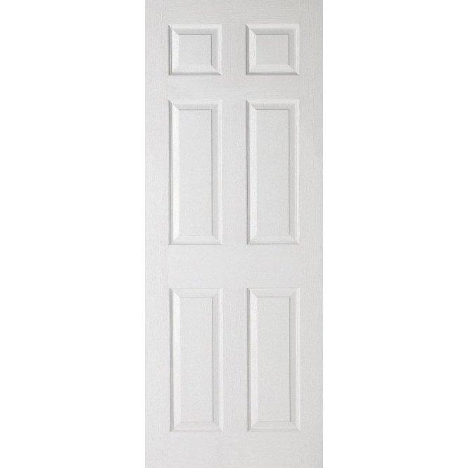 Premdor Internal White Moulded Textured 6 Panel Door